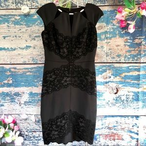 JAX Party Cocktail Black Dress Sz 4